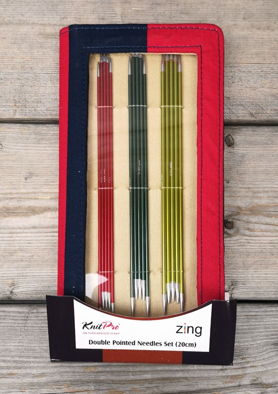 Zing Double Pointed Needle Set 20 cm